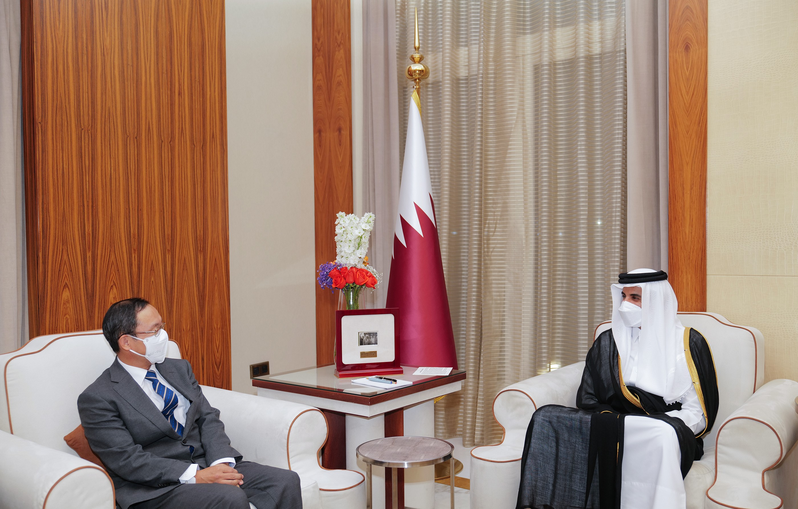 HH The Amir Receives Ambassador of Korea